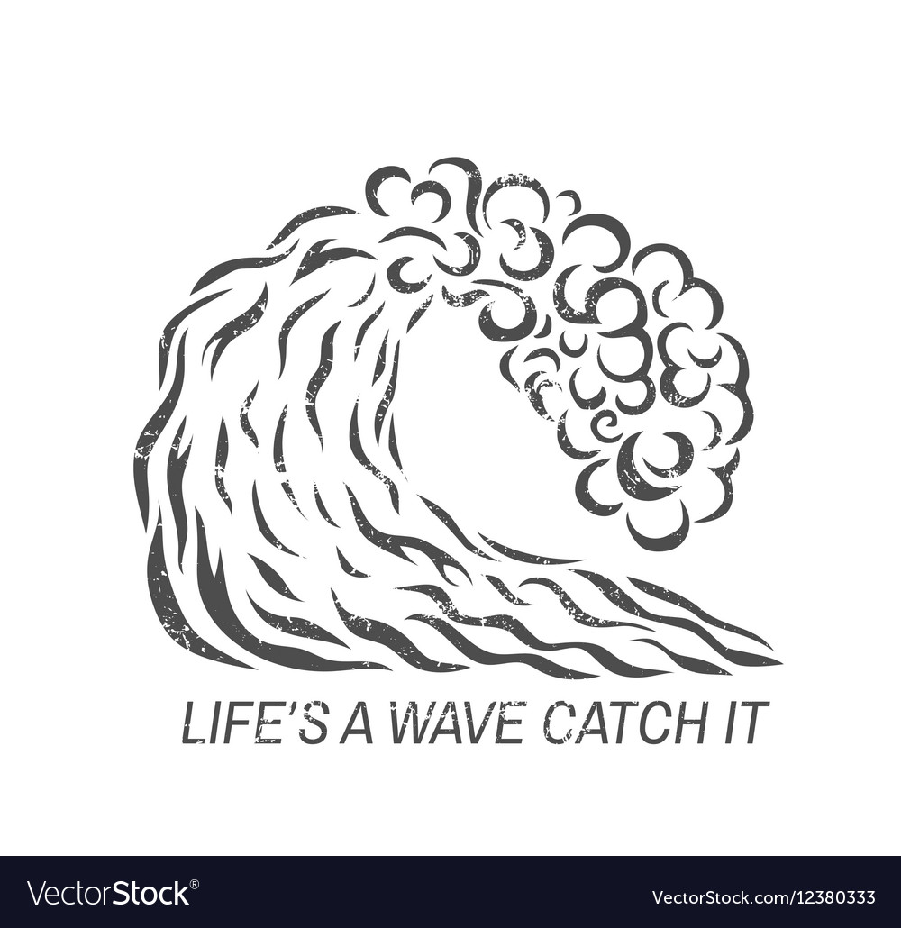Surf wave Logo design vector image