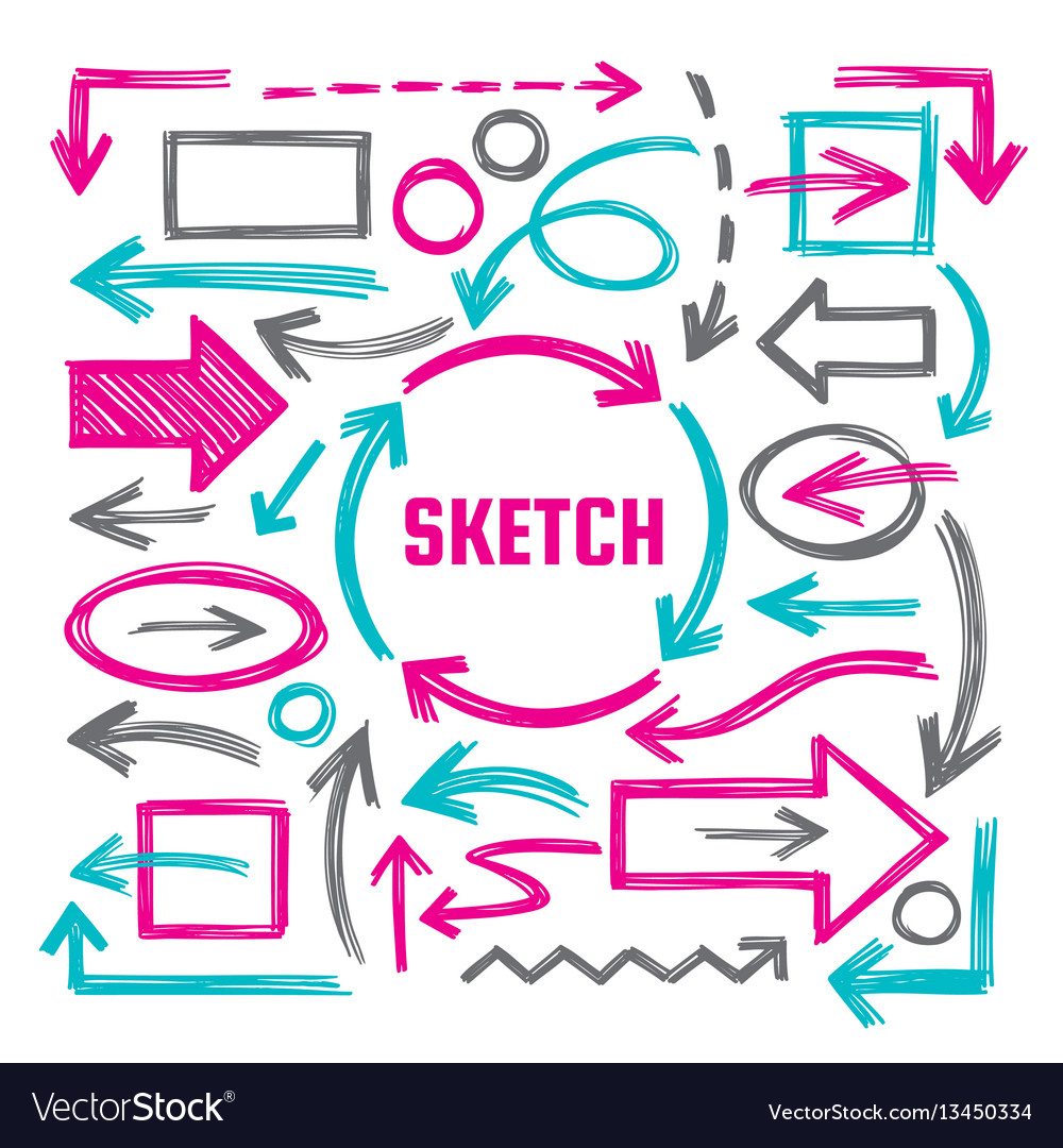 Hand draw sketch vector image