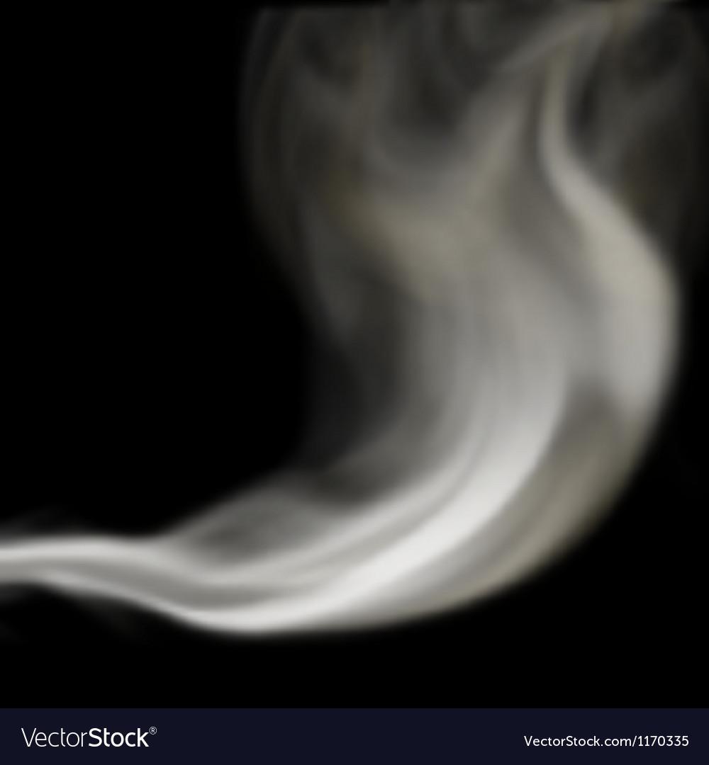 Blown smoke vector image