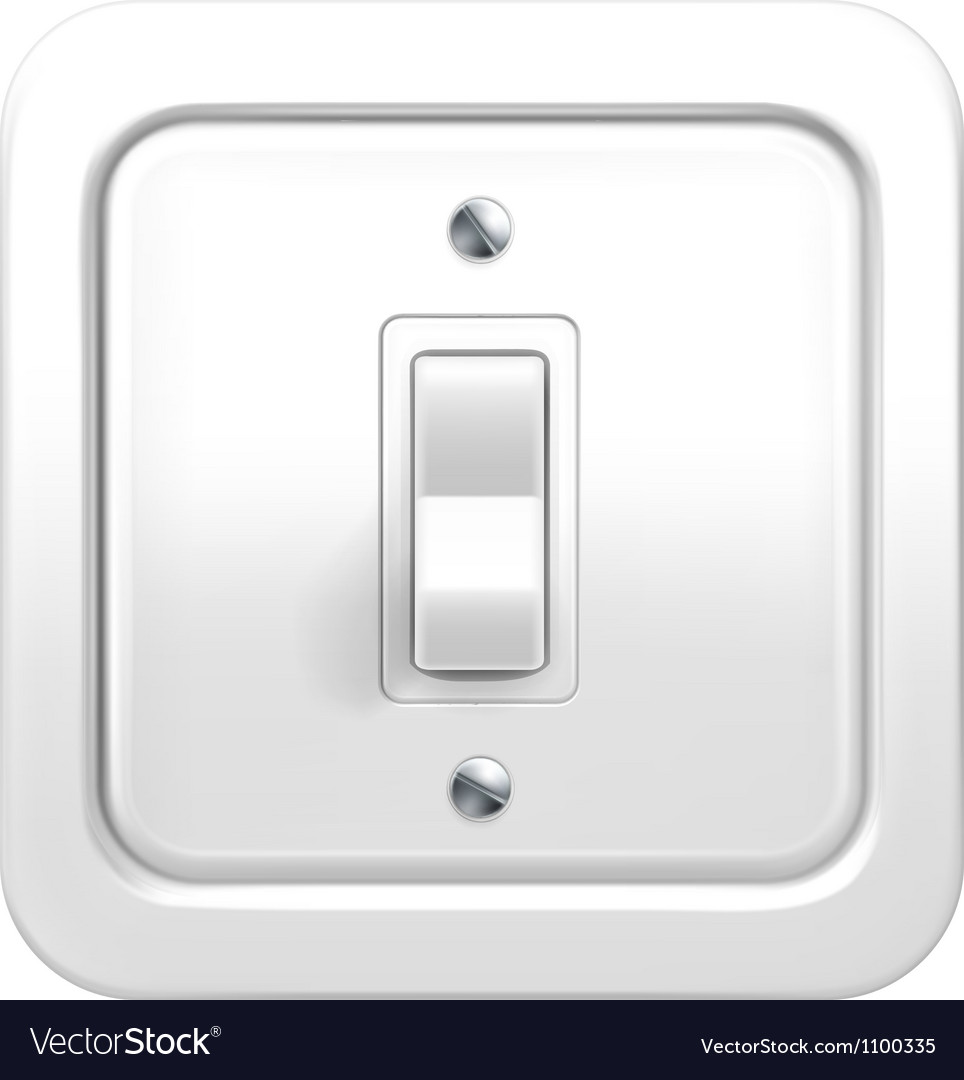 Light switch vector image