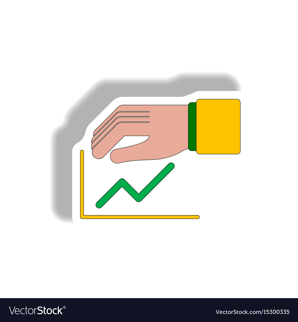 Protect increasing line graph vector image