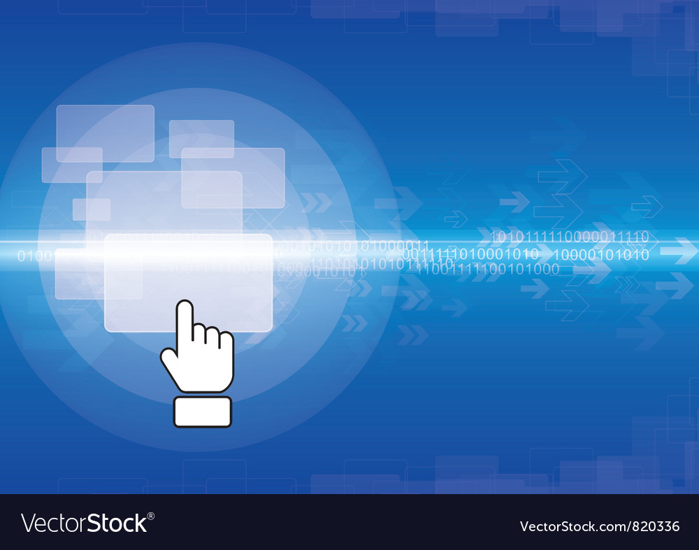 Abstract technology design vector image