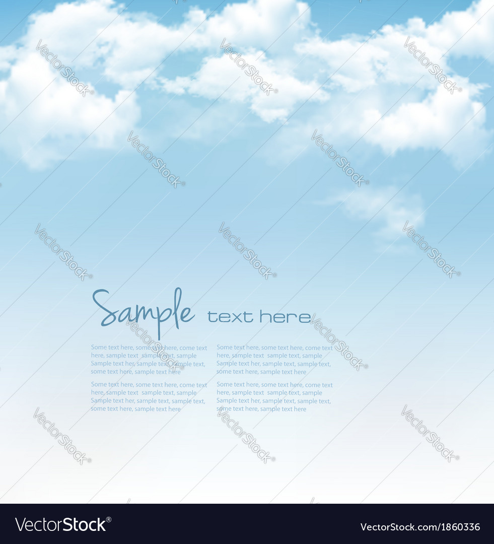 Blue sky with clouds background vector image
