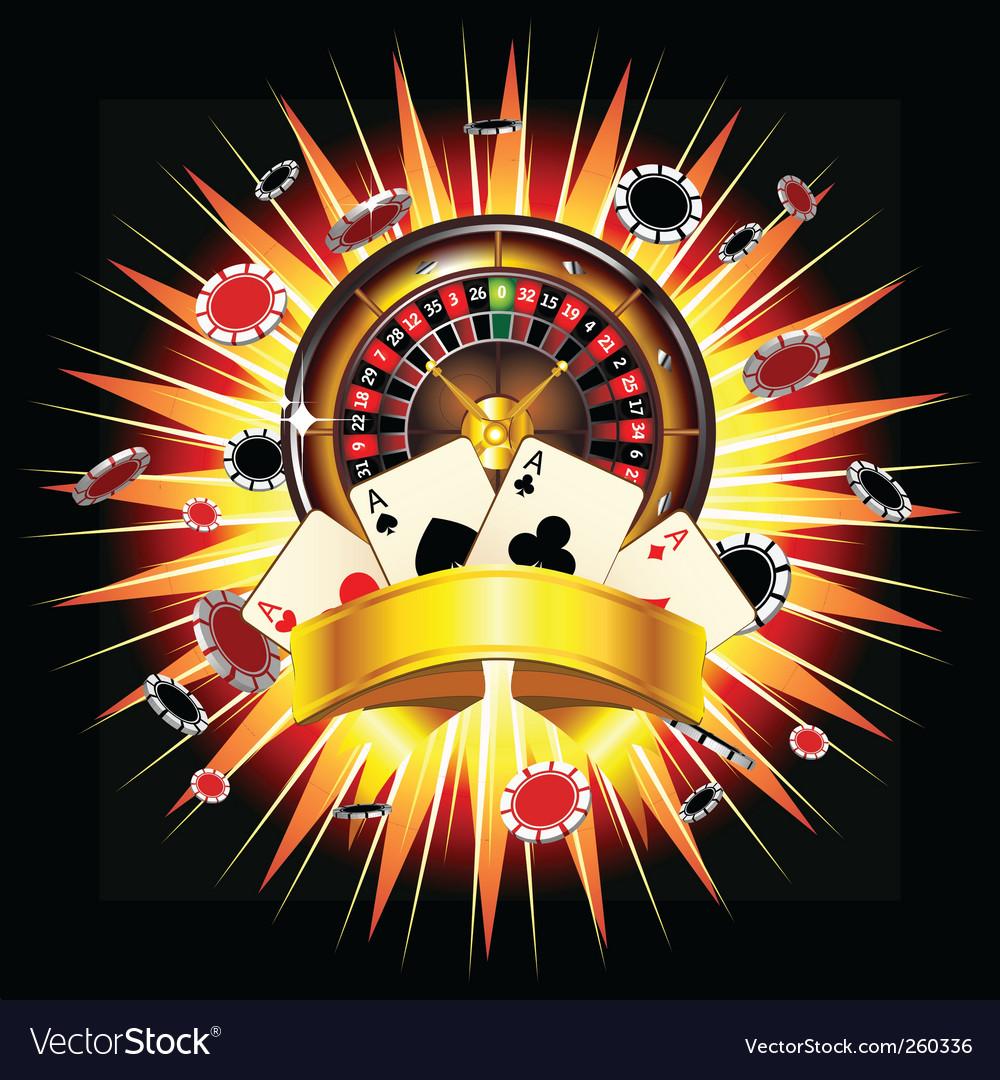 Casino burst vector image