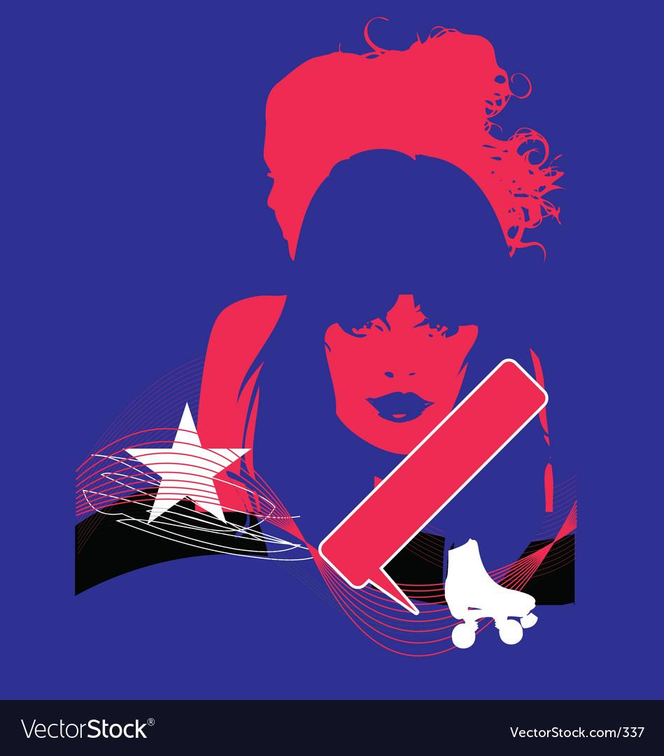 Model pop grunge illustration vector image