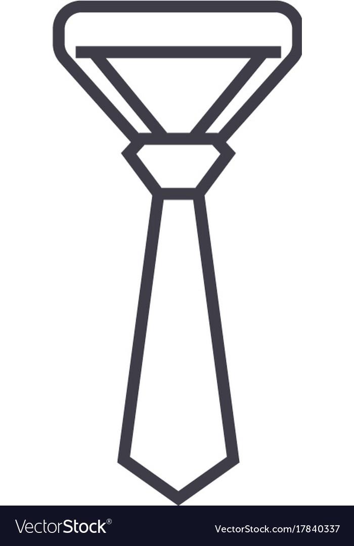 Necktietie line icon sign vector image