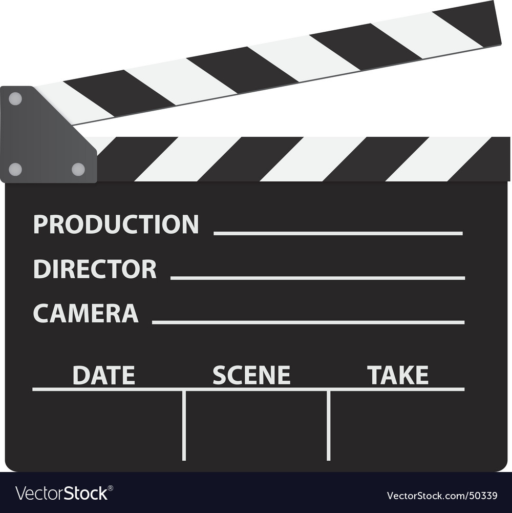 Cinema clapboard vector image