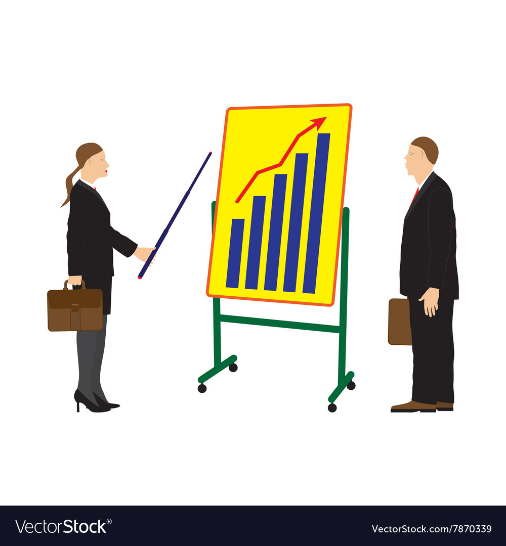 Meeting two businessmen vector image
