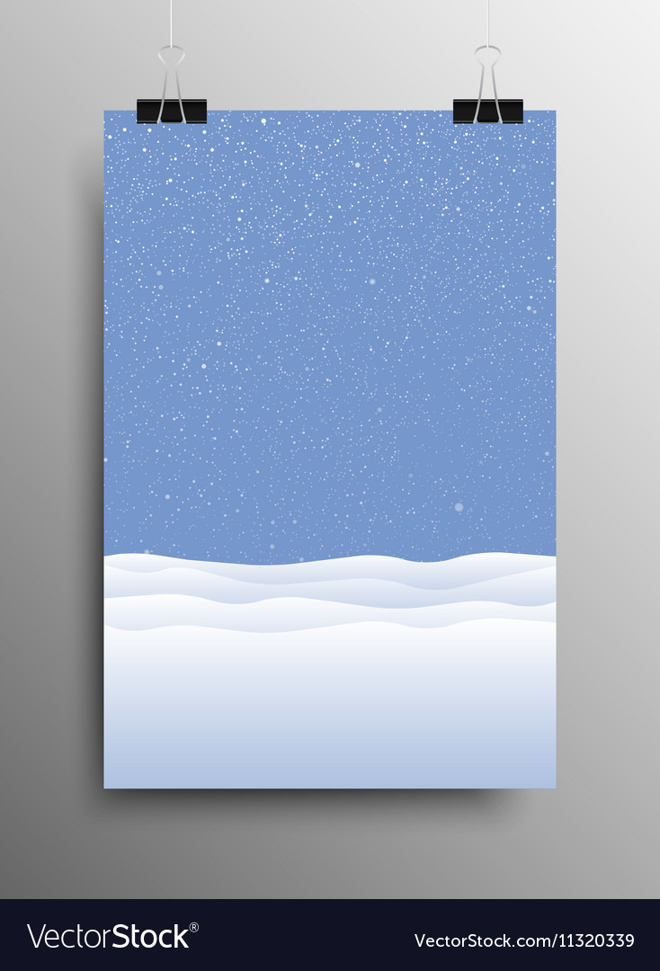 Vertical Poster Snow drift Christmas New Year vector image