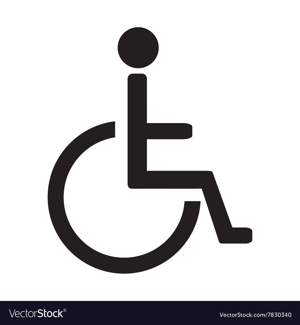 Disabled sign vector image