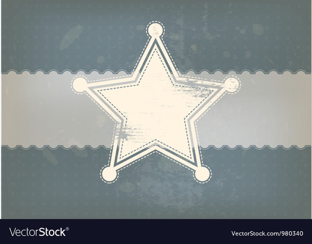 Star symbol with vintage background vector image