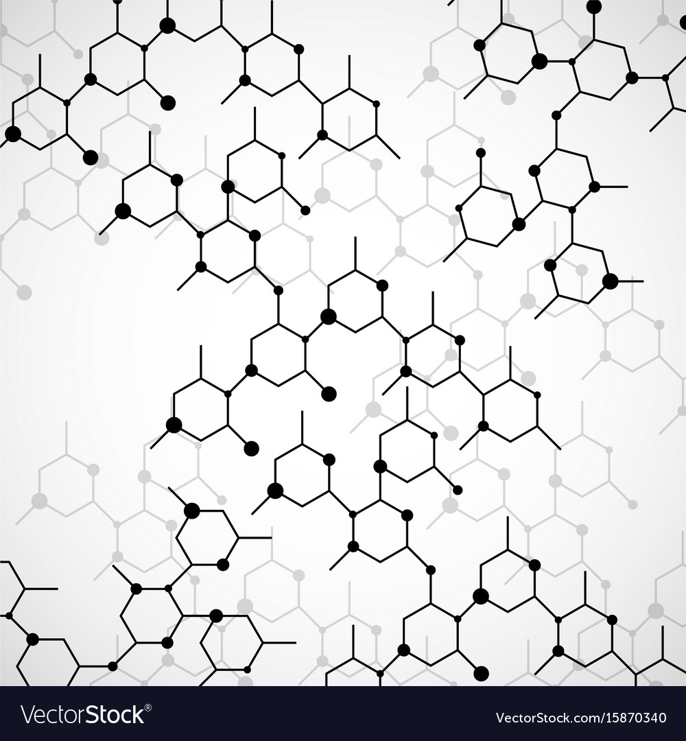 Structure molecule of dna geometric abstract vector image