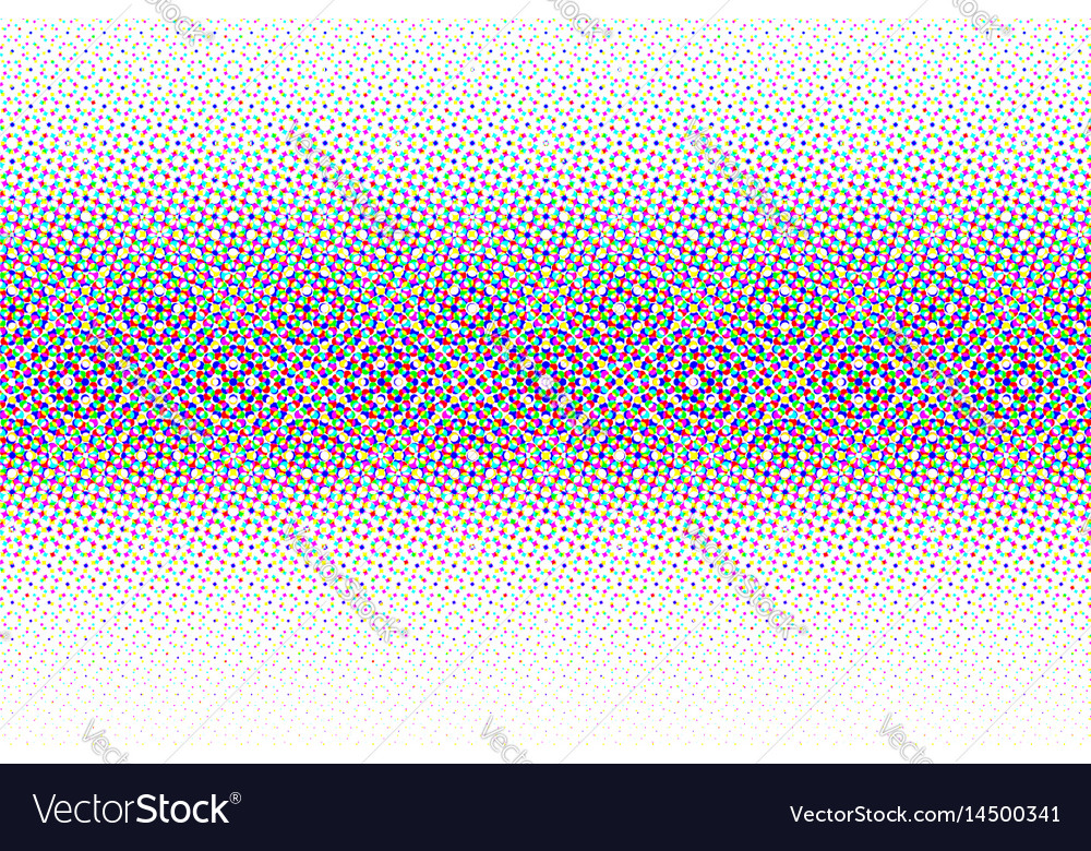 Abstract halftone glitched background vector image
