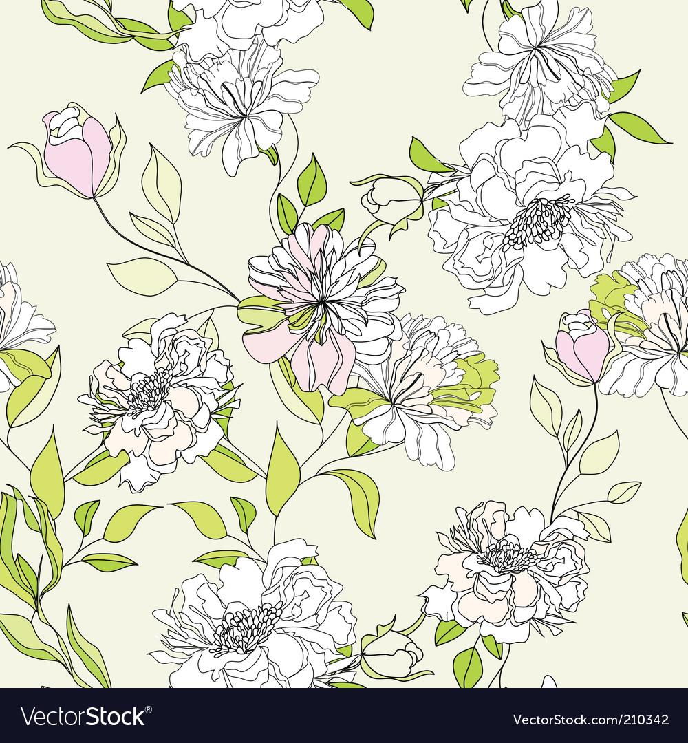 Romantic seamless wallpaper vector image
