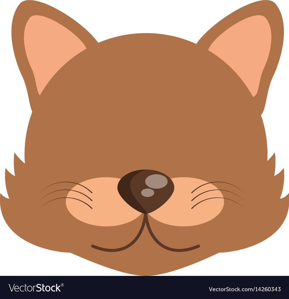Head cute wolf animal image vector image