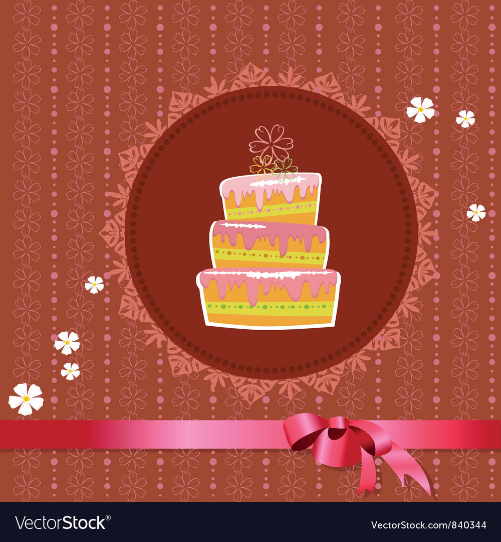 Designer frame cake Vector Image