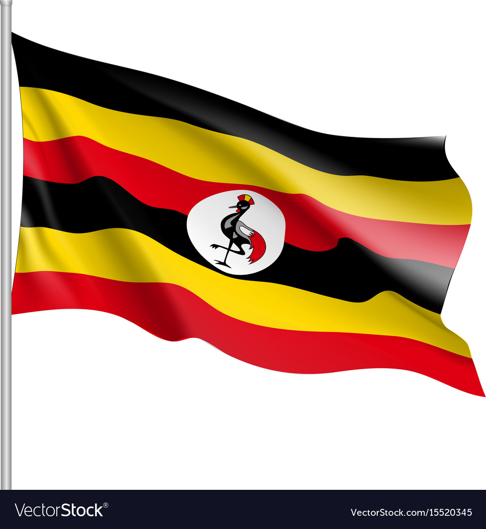 Flag of uganda african state vector image