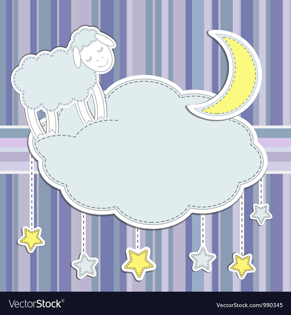 Frame with cute sheep vector image