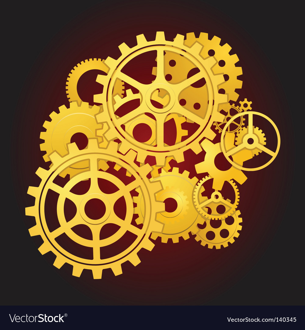 Gears in motion vector image