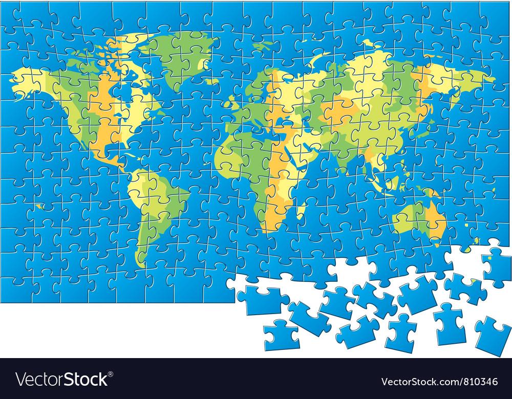 World map puzzle royalty free vector image vectorstock world map puzzle vector image gumiabroncs Choice Image