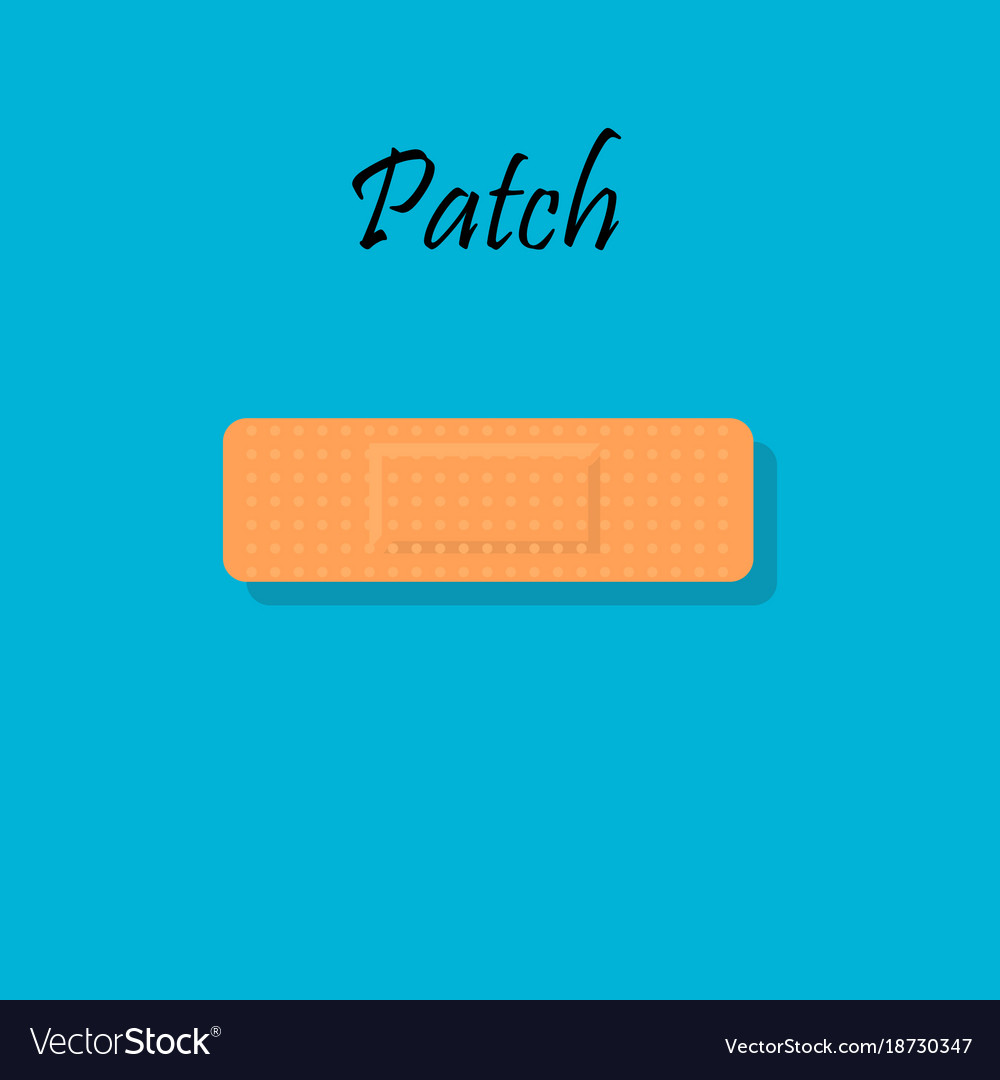 Bandage plaster or aid band vector image