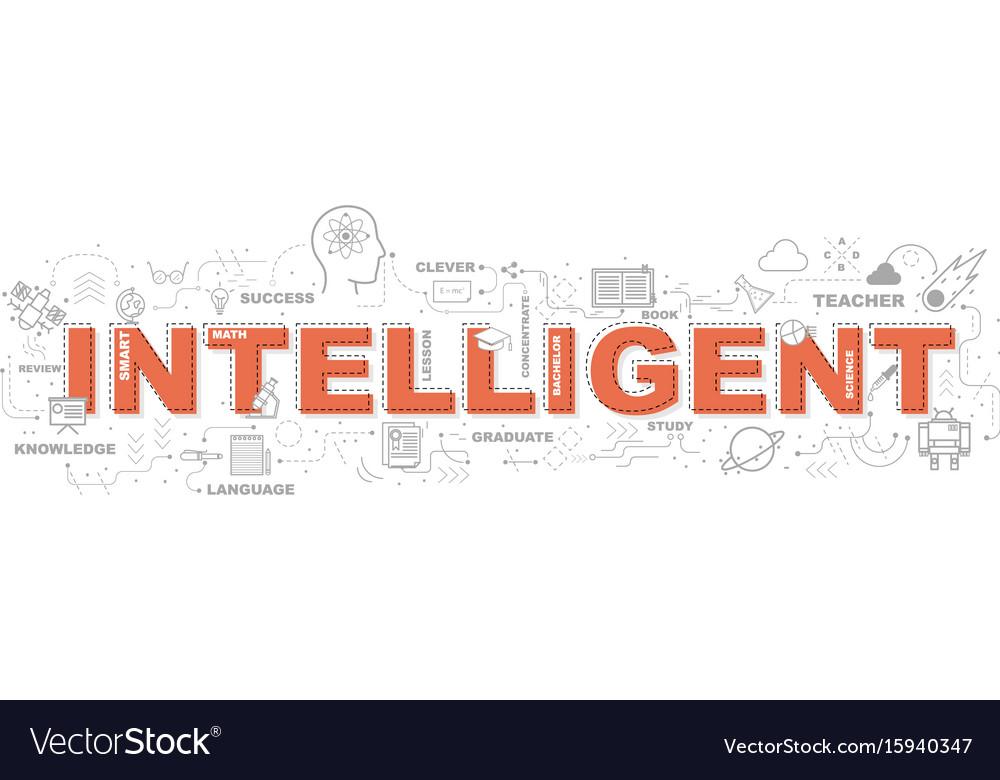 Design concept of word intelligent website banner vector image