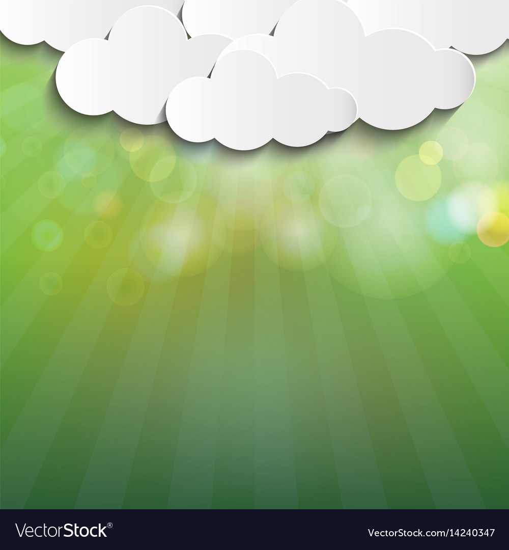 Green blur nature background vector image