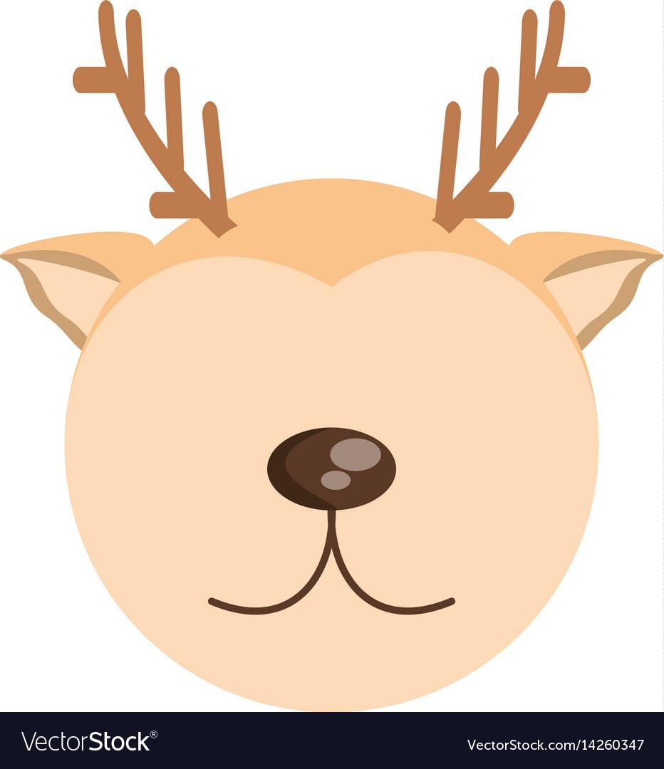 Head cute deer animal image vector image