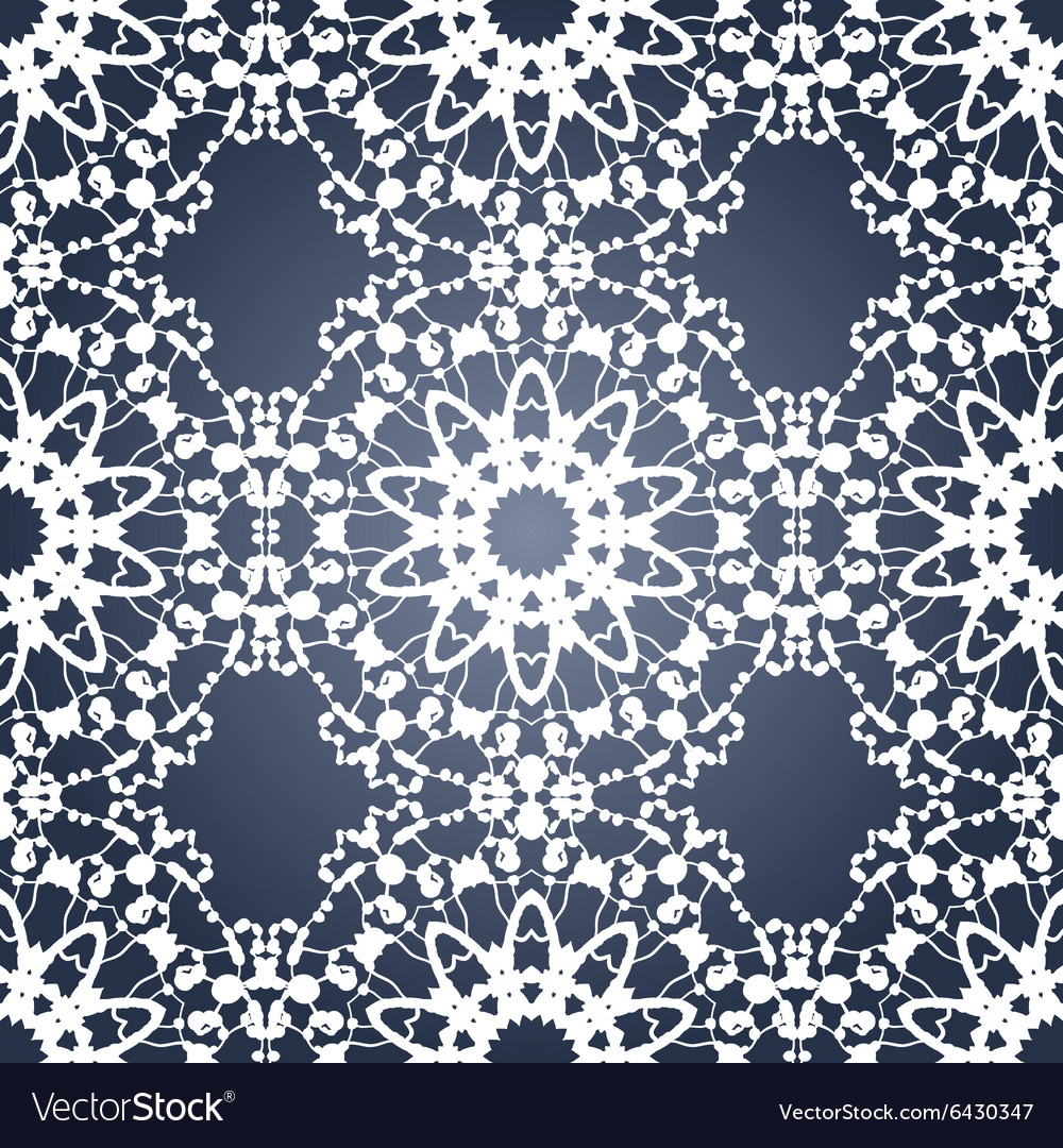 Seamless Blue and White Print vector image