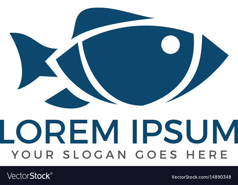 Fish logo design vector image