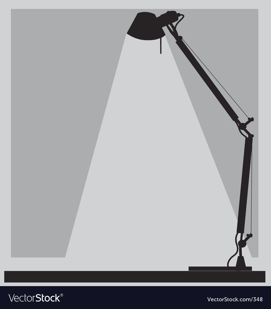 Office lamp vector image