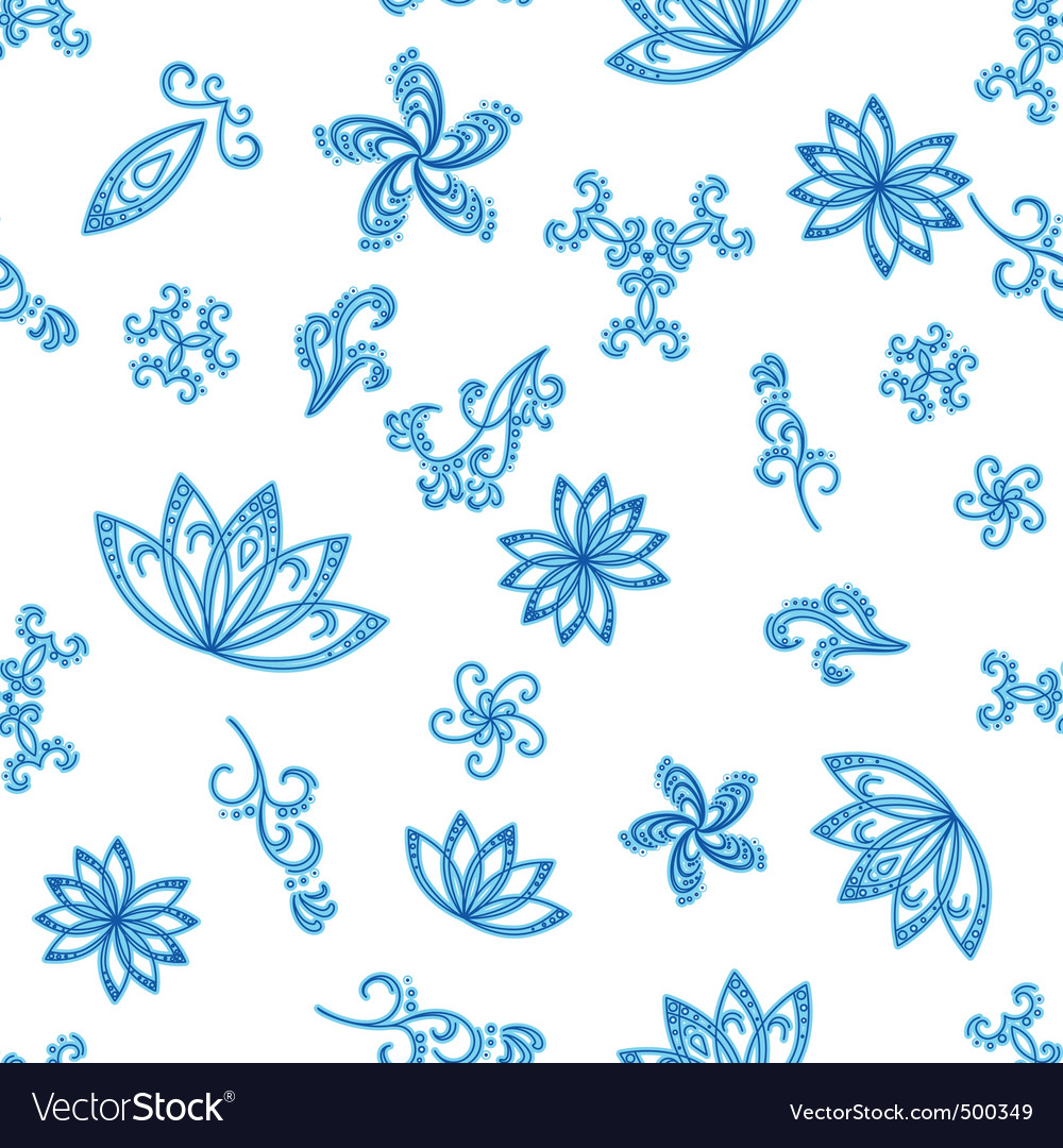 Abstract blue seamless background vector image