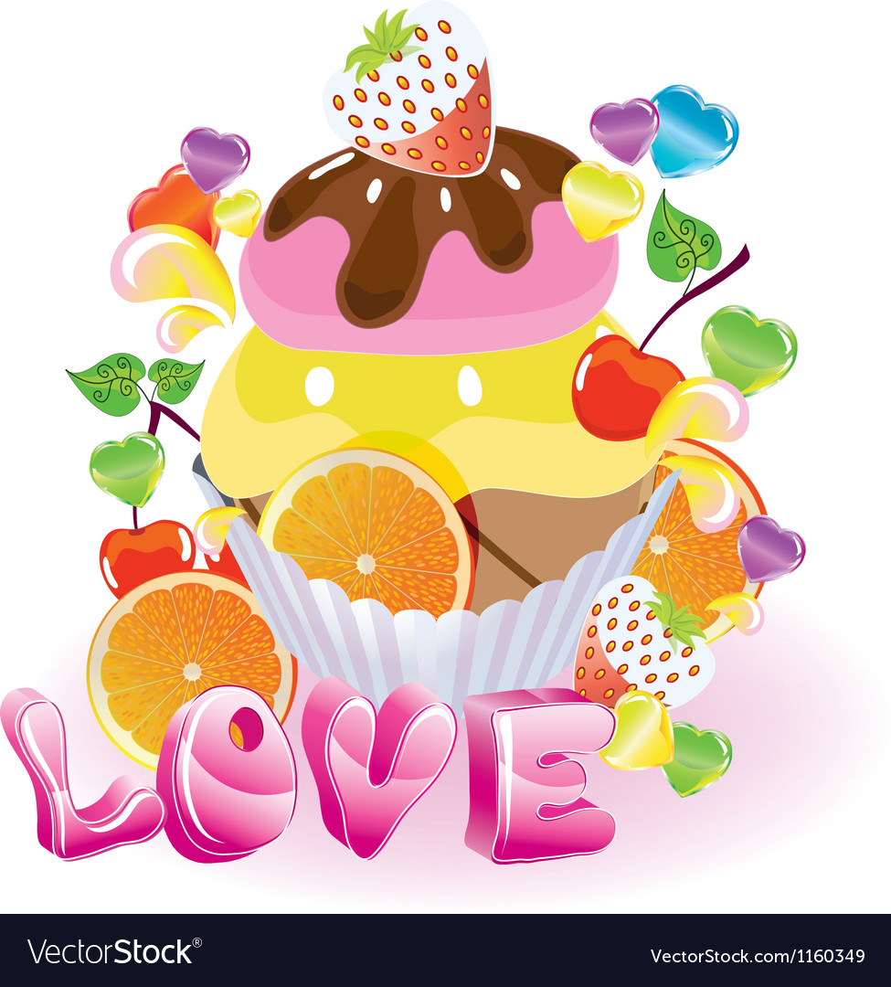 Sweet love vector image