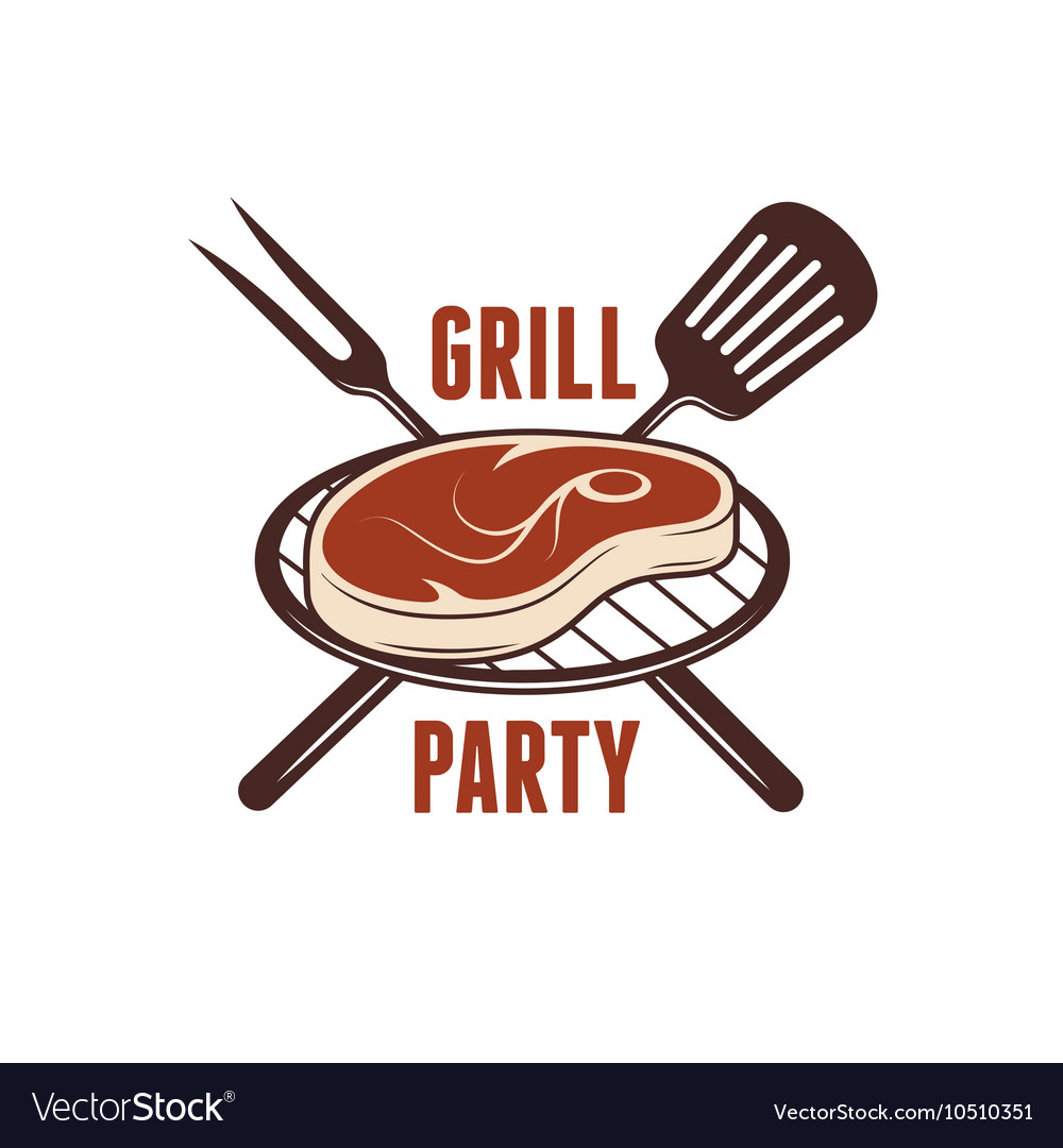 Bbq grill party poster Barbecue related print vector image