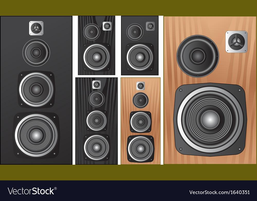 Speaker vector image
