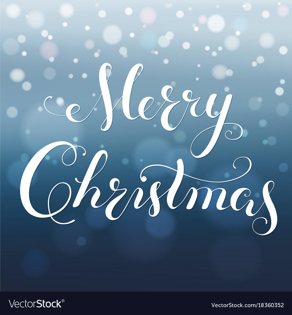 Merry christmas greeting card modern calligraphy vector image kristyandbryce Choice Image