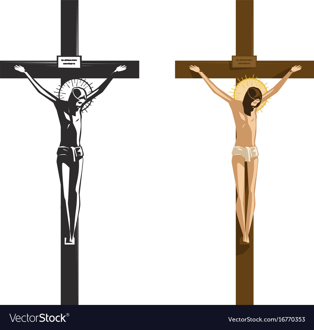 crucifixion of jesus christ religion royalty free vector