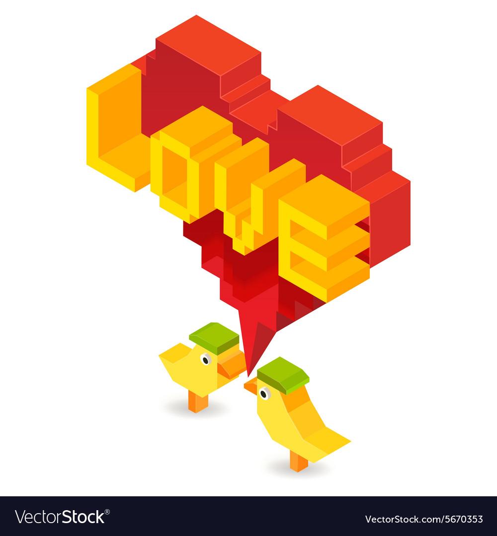Little birds lover vector image