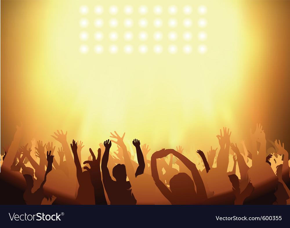 Crowd dancing vector image