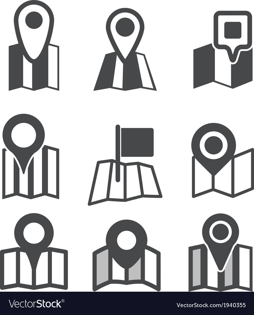 Different map web icons vector image