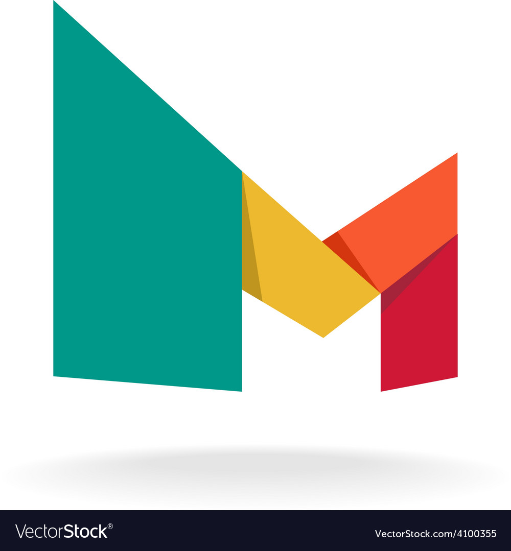 letter m logo royalty free stock photos image 22214578 letter m logo template origami colorful style vector image 623