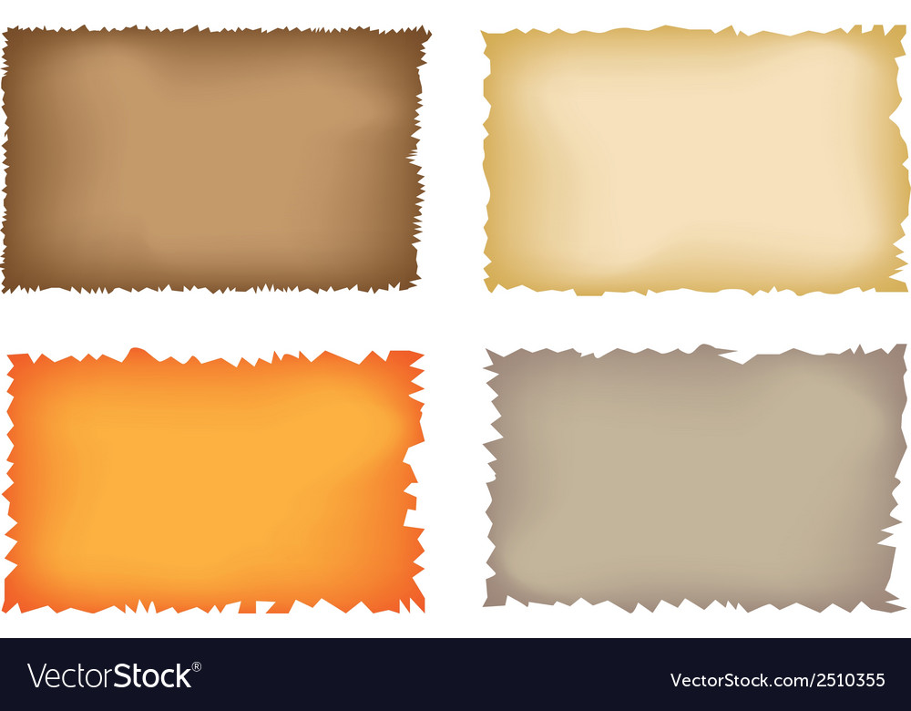 Old torn paper vector image