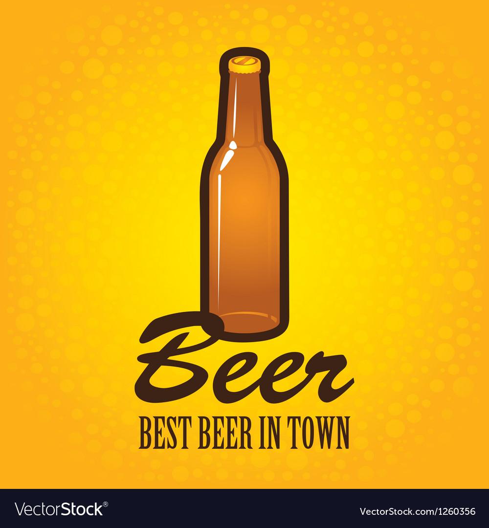 Bottle of beer Vector Image