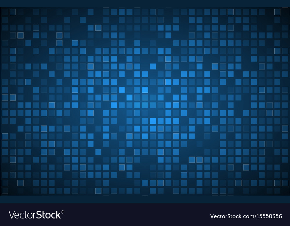 Blue abstract background with transparent squares vector image