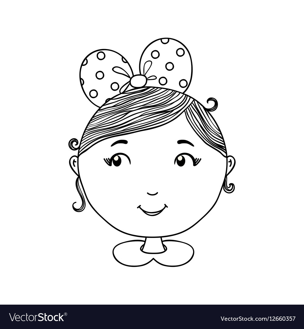 Cute girl background Hand drawn vector image
