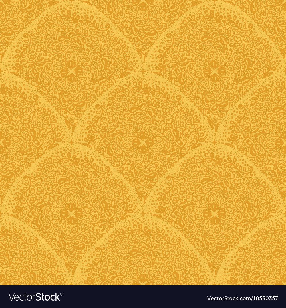 Ornaments in gold colors vector image