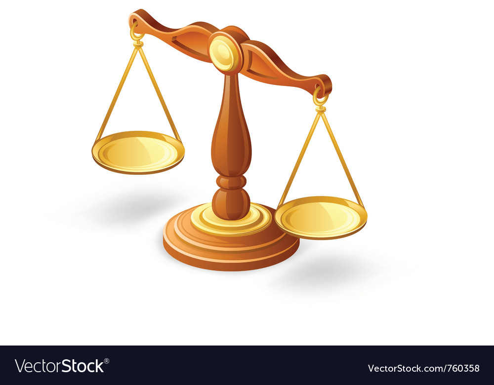 Balance scale vector image