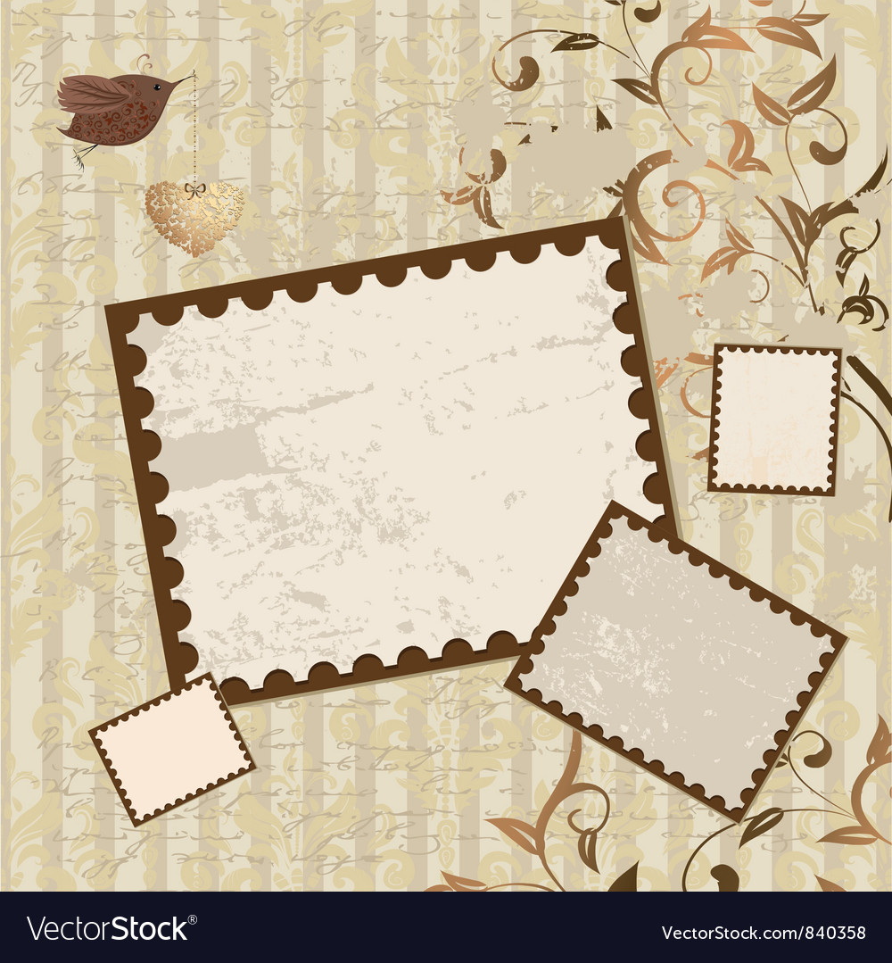 Valentines Scrapbook Elements vector image