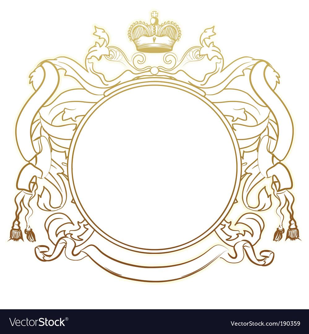Heraldic frame vector image