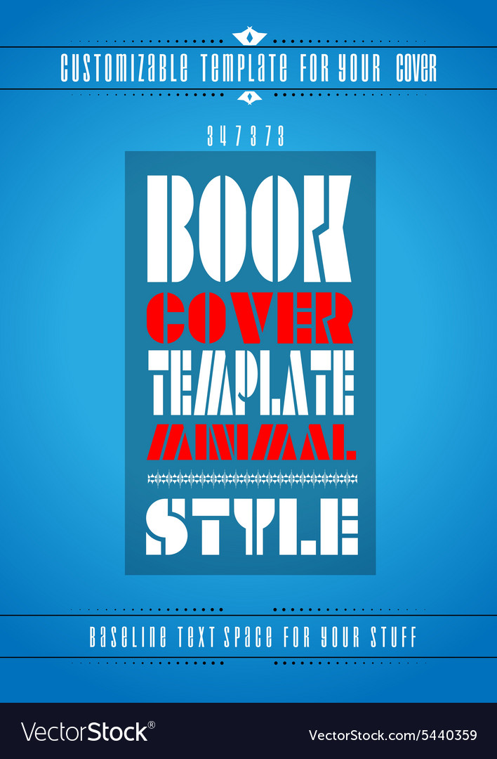 Modern Book Cover Vector : Minimal modern book cover template royalty free vector image